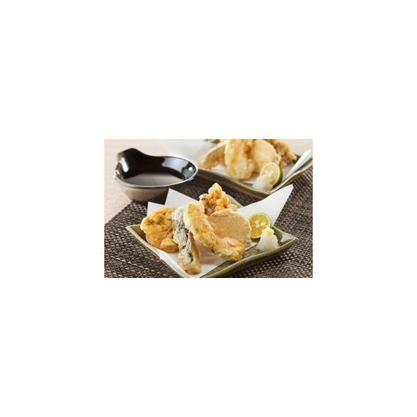 天ぷら粉も国産小麦粉使用し揚げ油も米油! 天ぷらセット(無添加濃縮たれ付き) 2人前(5種×2個)×3袋 送料無料