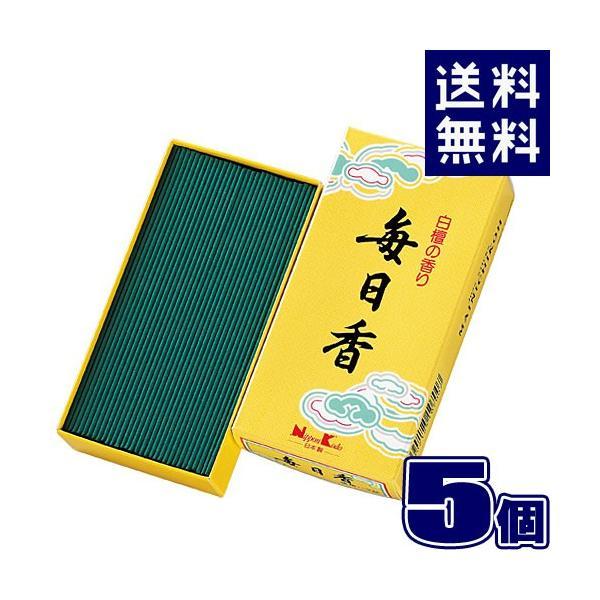毎日香 徳用 バラ詰 小 107 (×5個セット) 日本香堂 107g 線香