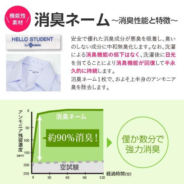 半袖 スクール開襟シャツ(左胸ポケット) 2枚セット 白 形態安定 抗菌防臭|nippi|03