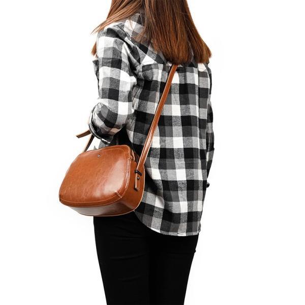 ショルダーバッグ 本革 レディース 斜めがけ メッセンジャーバッグ レザー ガールズ 光沢 パティーバッグ レッド オレンジ 青色 デード 化粧品鞄