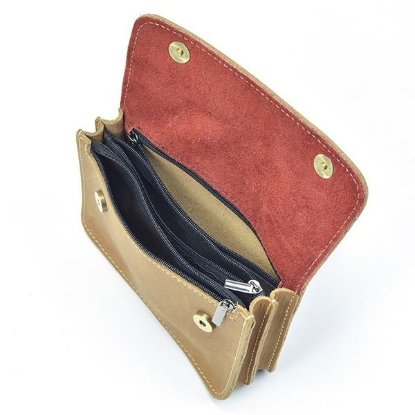 59abe6da6a09 ... ウエストバッグ レトロ 耐久 メンズ 本革 ウエストポーチ ベルトバッグ 財布 携帯、財布収納 ...