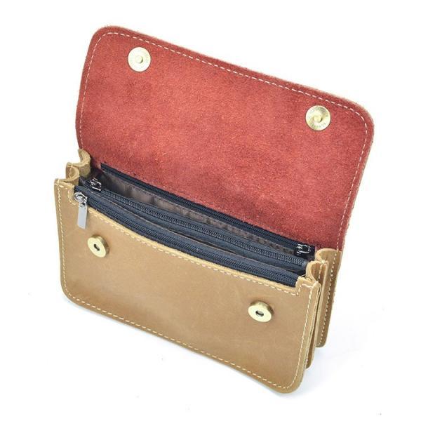 88293706813c ... ウエストバッグ レトロ 耐久 メンズ 本革 ウエストポーチ ベルトバッグ 財布 携帯、財布収納