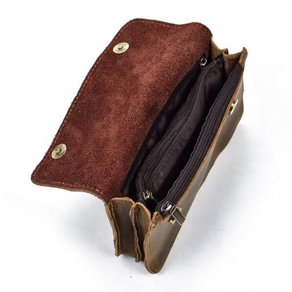 c18993be6196 ... ウエストポーチ 本革 レザー ベルトポーチ メンズ レザー ベルトバッグ タバコケース ベルトバッグ ビンテージ ...
