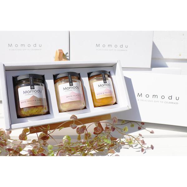 岡山の絶品手作りフルーツジャム Momoduギフトセット 3種 詰合せ ジャム 白桃ジャム もも 桃 岡山 Momodu