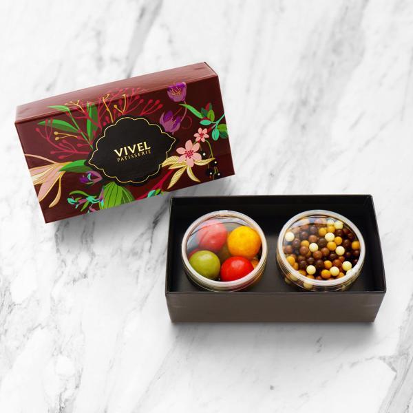 チョコレート アソート2個入 2箱セット 洋菓子 クランチ アップルパール 化粧箱 ボックス お菓子神奈川 VIVEL PATISSERIE