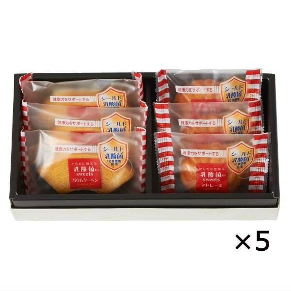 からだに微笑み 乳酸菌入りスイーツ 2種6個詰合せ 5箱 2種 洋菓子 焼き菓子 スイーツ 乳酸菌 岐阜 ヌベール