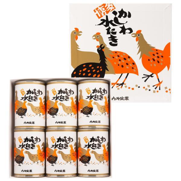 かしわ水炊き 小6缶 セット 缶詰 鍋スープ 水炊き 鍋の素 博多水炊き 惣菜 鶏肉 かしわ 骨付き 料理の素 国産