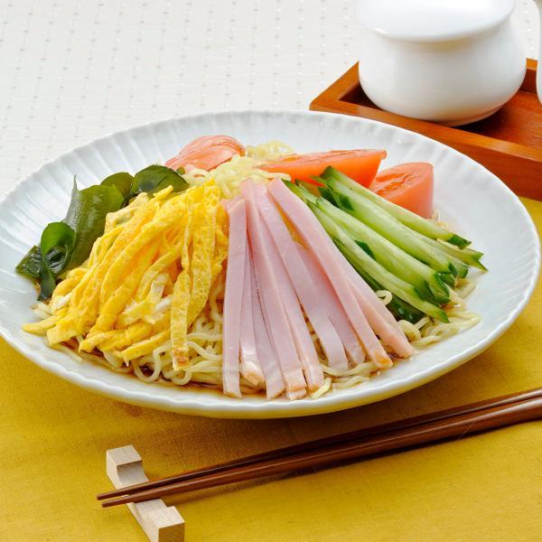 仙台冷やし中華 しょうゆ味 冷やし中華 生麺 麺類 仙台 ちぢれ麺 しょうゆ えごま油 さっぱり 冷し中華