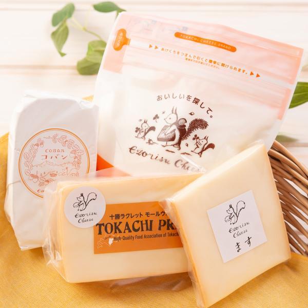 エゾリスチーズセット 4種 詰合せ チーズ 国産 ラクレット コバン 白カビ 十勝 北海道 広内エゾリスの谷チーズ社