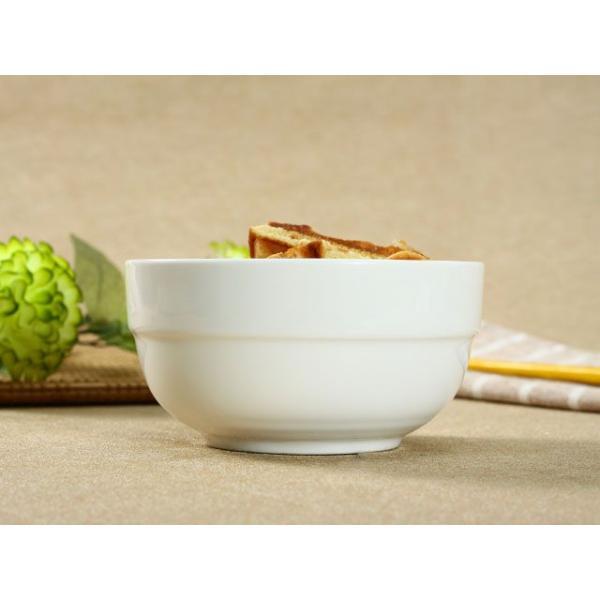 ライスボウル スープボウル 4.3号 320ml 縁あり 白磁 おしゃれ レンジOK 小さい 韓国風|nishida-store|02