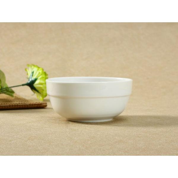 茶碗 ライスボウル  4.5号 縁あり  ご飯 どんぶり 白磁 おしゃれ レンジOK 普通盛り 韓国風|nishida-store|04