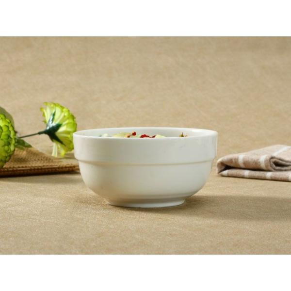 茶碗 ライスボウル  5号 縁あり  ご飯 どんぶり 白磁 おしゃれ レンジOK 普通盛り 韓国風 無地 シンプル|nishida-store|03