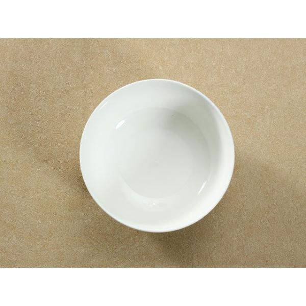どんぶり 白磁 おしゃれ  6号丼  茶碗 ご飯 ライスボウル まんぷく レンジOK 大きい 無地 シンプル カフェ丼|nishida-store|02