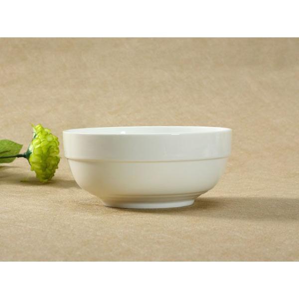 どんぶり 白磁 おしゃれ  6号丼  茶碗 ご飯 ライスボウル まんぷく レンジOK 大きい 無地 シンプル カフェ丼|nishida-store|03