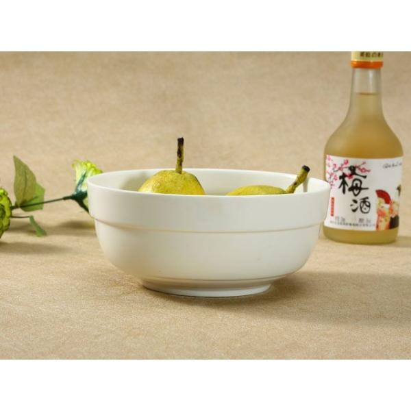 どんぶり 白磁 おしゃれ  7号丼  茶碗 ご飯 ライスボウル まんぷく レンジOK 大きい 無地 シンプル カフェ丼 nishida-store 04