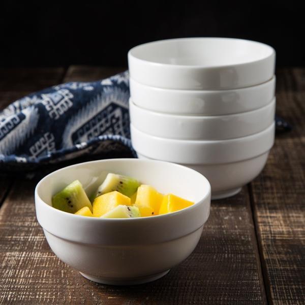 どんぶり 白磁 おしゃれ  8号丼  茶碗 ご飯 ライスボウル まんぷく レンジOK 大きい 無地 シンプル カフェ丼|nishida-store
