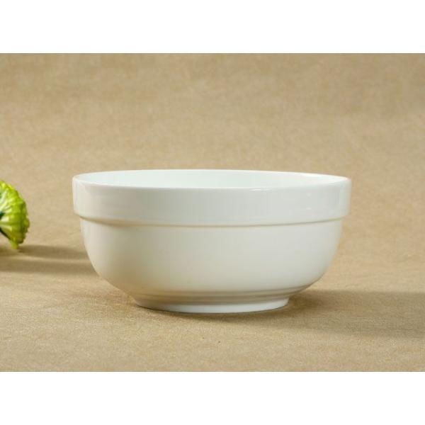 どんぶり 白磁 おしゃれ  8号丼  茶碗 ご飯 ライスボウル まんぷく レンジOK 大きい 無地 シンプル カフェ丼|nishida-store|02