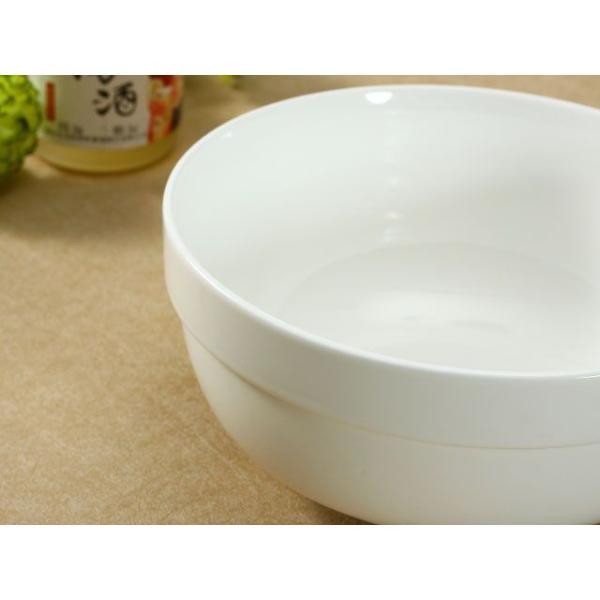 どんぶり 白磁 おしゃれ  8号丼  茶碗 ご飯 ライスボウル まんぷく レンジOK 大きい 無地 シンプル カフェ丼|nishida-store|03