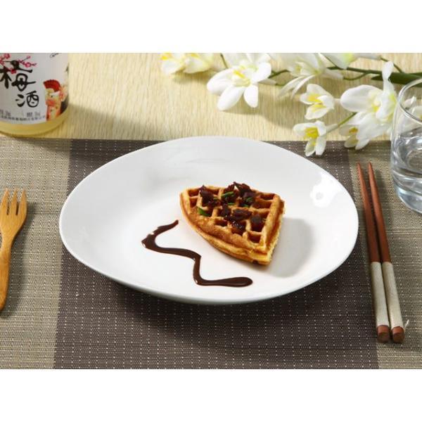 ディナープレート 8.5号 21.8cm  白磁 おしゃれ レンジOK 大きい 無地 パスタ カフェ|nishida-store|03