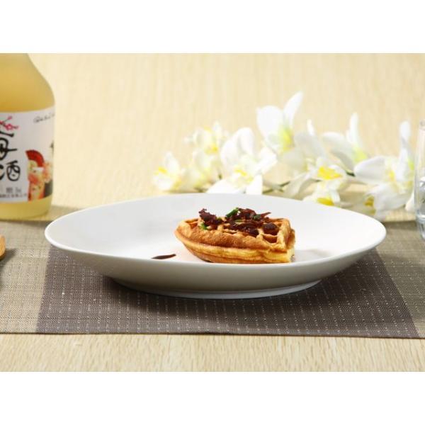 ディナープレート 8.5号 21.8cm  白磁 おしゃれ レンジOK 大きい 無地 パスタ カフェ|nishida-store|04