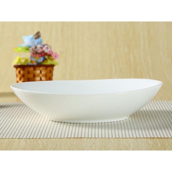 オーバルプレート カレー皿  22.5cm   パスタ皿 サラダボウル 白磁 おしゃれ 小さい レンジOK カフェ|nishida-store|03