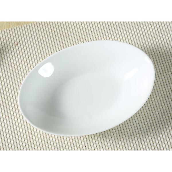オーバルプレート カレー皿  22.5cm   パスタ皿 サラダボウル 白磁 おしゃれ 小さい レンジOK カフェ|nishida-store|04