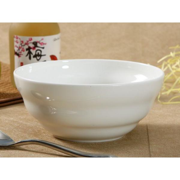 どんぶり 白磁 おしゃれ  7号丼 渦巻タイプ  茶碗 ご飯 ライスボウル 大きい 軽い 白い 無地 シンプル|nishida-store