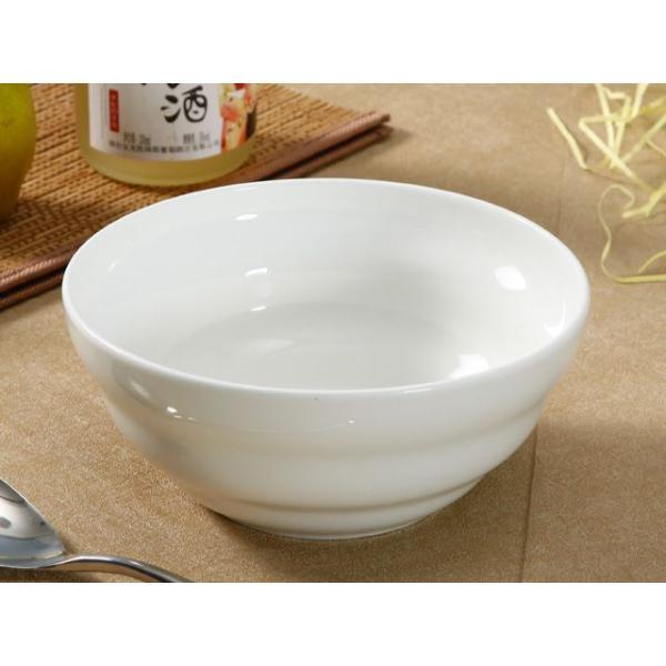 どんぶり 白磁 おしゃれ  7号丼 渦巻タイプ  茶碗 ご飯 ライスボウル 大きい 軽い 白い 無地 シンプル|nishida-store|02