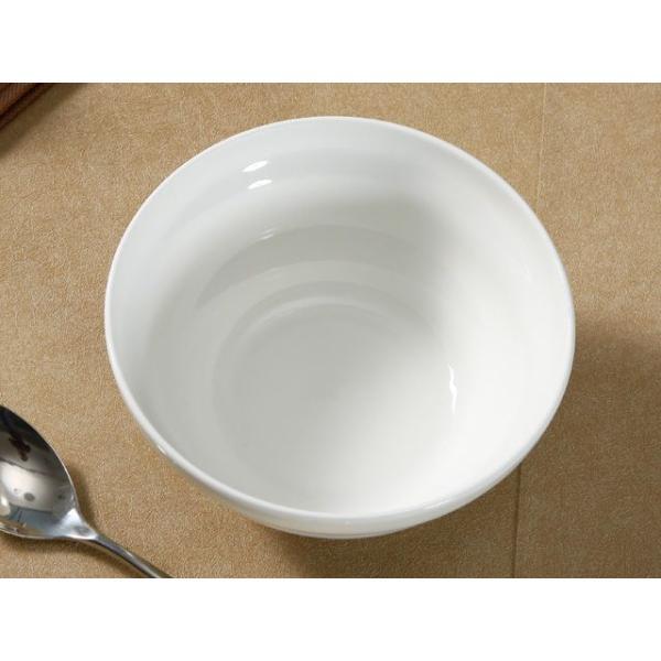 どんぶり 白磁 おしゃれ  7号丼 渦巻タイプ  茶碗 ご飯 ライスボウル 大きい 軽い 白い 無地 シンプル|nishida-store|03