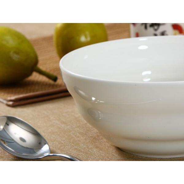 どんぶり 白磁 おしゃれ  7号丼 渦巻タイプ  茶碗 ご飯 ライスボウル 大きい 軽い 白い 無地 シンプル|nishida-store|04