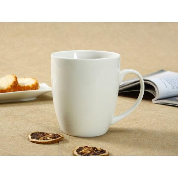 マグカップ おしゃれ 500ml 白磁 大きい レンジOK カフェ コーヒー シンプル ホワイト|nishida-store