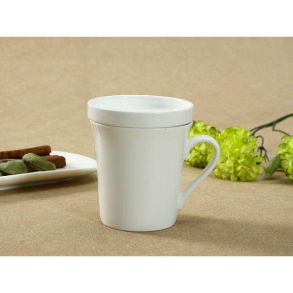 マグカップ 蓋付き 320ml  白磁 おしゃれ レンジOK シンプル ホワイト 珈琲 紅茶|nishida-store