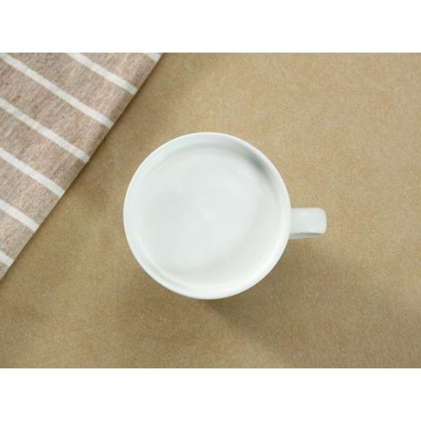 マグカップ 蓋付き 320ml  白磁 おしゃれ レンジOK シンプル ホワイト 珈琲 紅茶|nishida-store|03