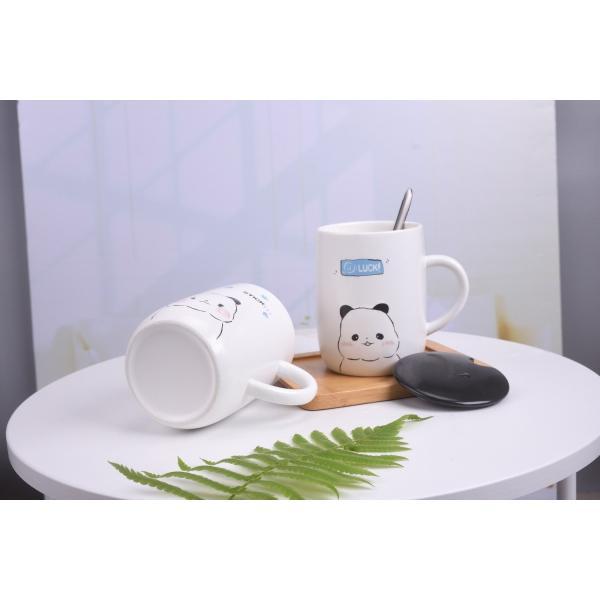 ふた付きマグカップ(パンダ 熊猫 600ml) 蓋付き マドラー付き 陶器製 可愛い お洒落 大容量 コーヒー 紅茶 ジュース牛乳 カフェオレ|nishida-store|03