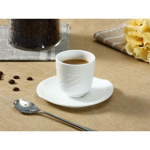 お茶カップソーサー セット 150ml  コーヒー 珈琲 コップ 強化磁器 白磁 無地 シンプル おしゃれ 軽い 北欧風|nishida-store