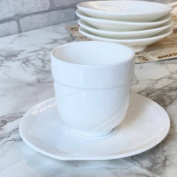 お茶カップソーサー セット 150ml  コーヒー 珈琲 コップ 強化磁器 白磁 無地 シンプル おしゃれ 軽い 北欧風|nishida-store|04