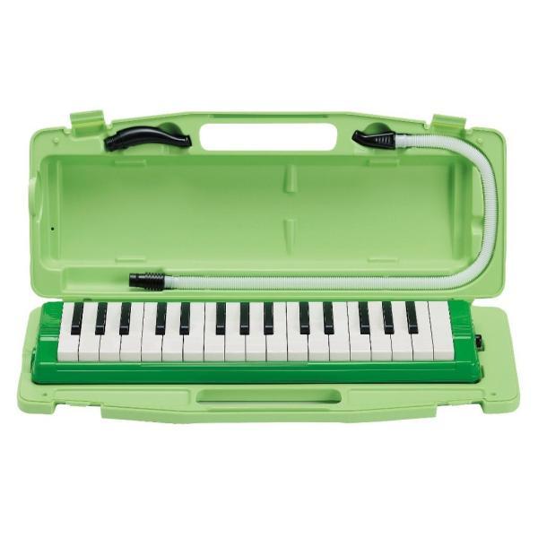 ゼンオン 鍵盤ハーモニカ ピアニー 323AH グリーン ハードケース