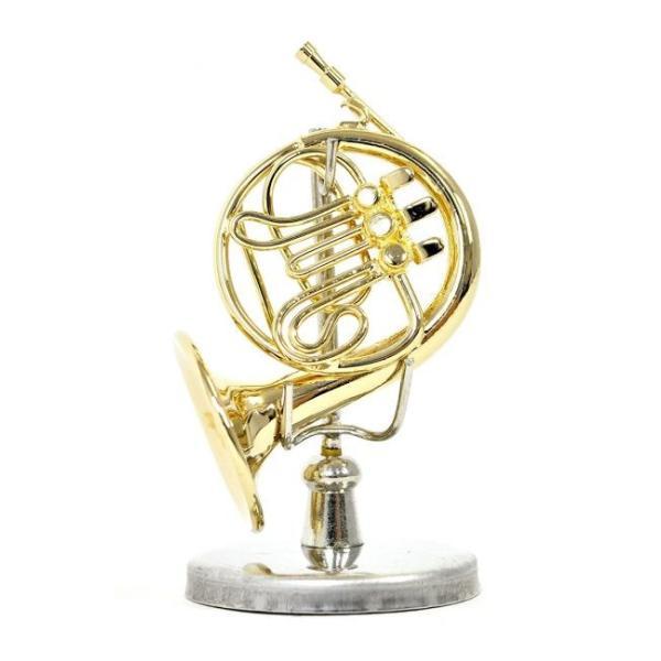 ミニチュア楽器(フィギュア)フレンチホルンカラーゴールド金属1/12(3.5cm)サンライズサウンドハウス(飾り物で音は出ません