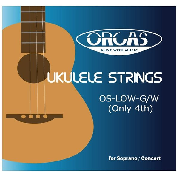 ORCAS OS-LOW-G/W LOW-G バラ弦4弦のみ 弦長80cm ソプラノ コンサート テナーウクレレ対応