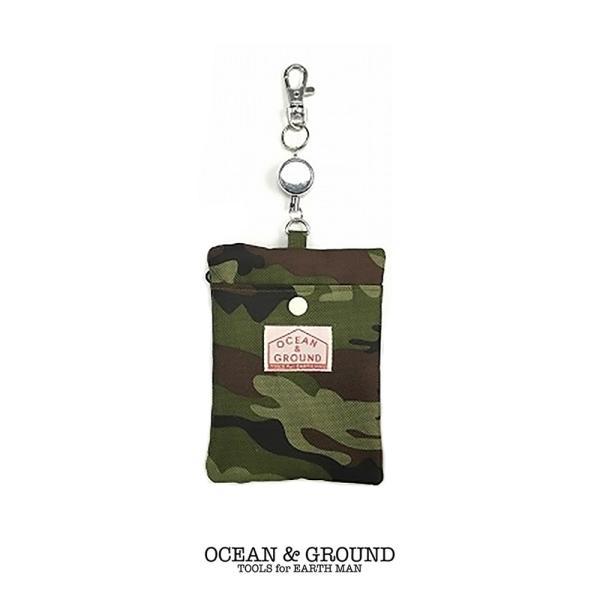 オーシャンアンドグラウンド(Ocean&Ground)パスケース CAMO 定期入れ 迷彩柄|nishiki