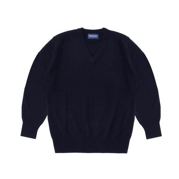 【アウトレット】スクールセーター 男女兼用/学生用 秋冬 アクリル70%ウール30% ネイビー 3S-XL【返品・交換不可商品】|nishiki