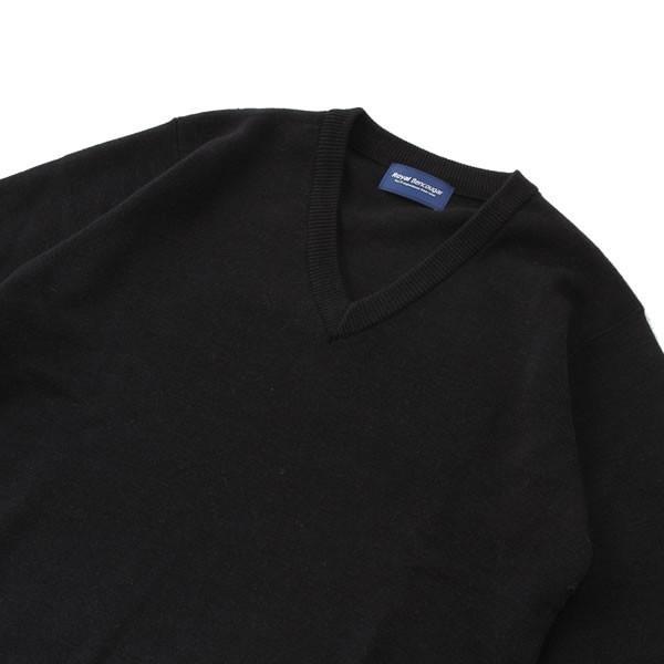 【アウトレット】スクールセーター 男女兼用/学生用 秋冬 アクリル70%ウール30% ネイビー 3S-XL【返品・交換不可商品】|nishiki|03