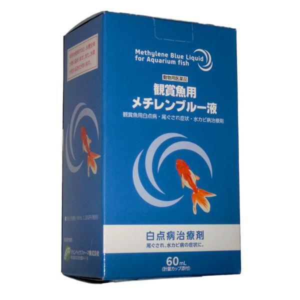 リケンベッツファーマ メチレンブルー液 60ml 魚病薬 動物用医薬品 メチレンブルー水溶液 【代引不可】