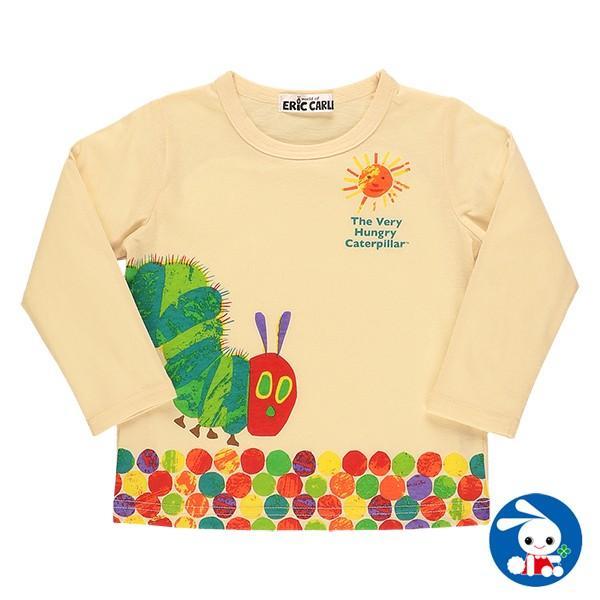 ベビー服 男の子 はらぺこあおむしプリント長袖Tシャツ 80cm・90cm・95cm 赤ちゃん ベビー 新生児 乳児 幼児 子供服 おしゃれ