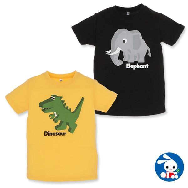 生き物半袖Tシャツ(ゾウ・恐竜)【100cm・110cm・120cm】