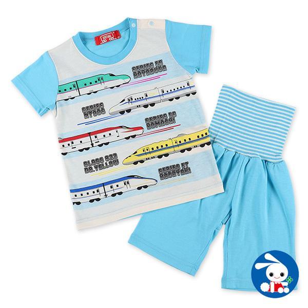 腹巻付き半袖パジャマ(デンタマ) 90cm・95cm