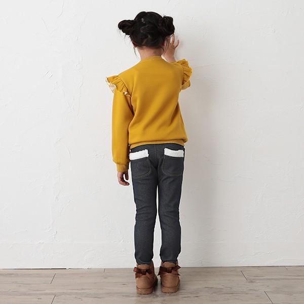 子供服 女の子 冬 ウラぽかデニムニットスリムパンツ ネイビー/グレー 100cm・110cm・120cm・130cm・140cm ガールズ 女児|nishimatsuya|04