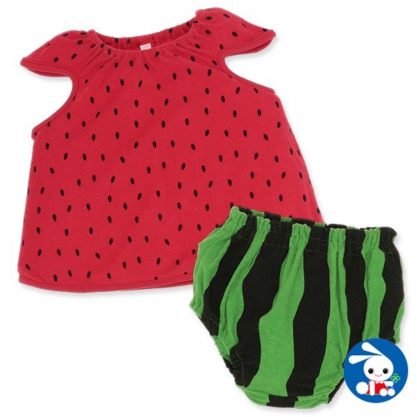 bef32e011 ベビー服 女の子 すいか柄ブルマセット 70cm・80cm・90cm 赤ちゃん ベビー 新生児 乳児 幼児
