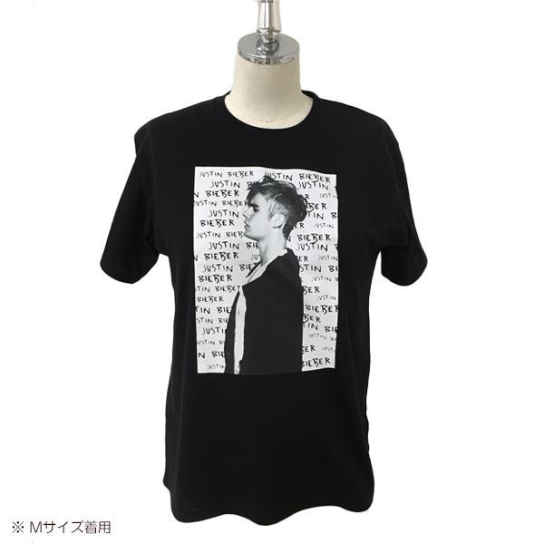 ジャスティンビーバー プリント半袖Tシャツ【S・M・L】|nishimatsuya|03