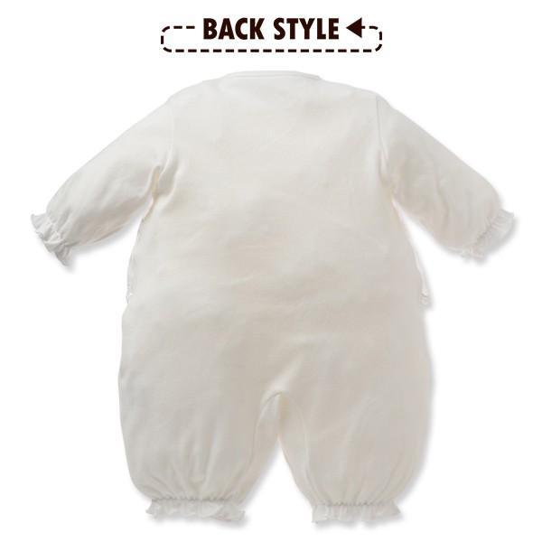 ベビー服 新生児 フード付きスムースセレモニードレス(花レース) 新生児50-60cm 男の子 女の子 赤ちゃん ベビー 乳児 幼児 子供服 おしゃれ|nishimatsuya|04